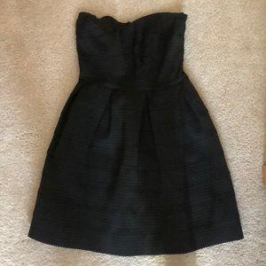 Fitted black mini dress